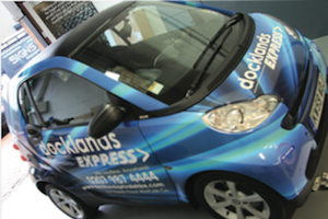 A recent vehicle wrap completed on an Easymount by Group101